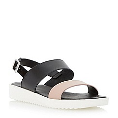 Dune - Neutral two part leather eva sole sandal