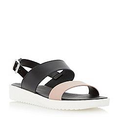 Dune - Neutral two part leather eva sole sandal