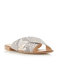 Dune - Natural 'Jarin di' cross over strap sandal