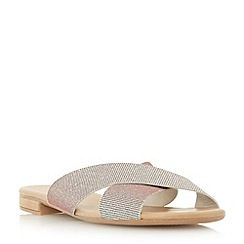Dune - Metallic cross over strap sandal