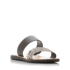 Dune - Multicoloured 'London' double strap flat sandal