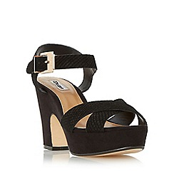 Dune - Black 'Iyla' cross vamp block heel sandal