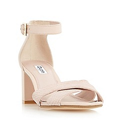 Dune - Light pink 'Imelda' cross over strap mid heel sandal