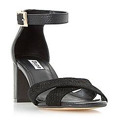 Dune - Black 'Imelda' cross over strap mid heel sandal