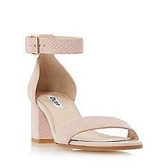 Dune - Light pink 'Jaygo' two part block heel sandal