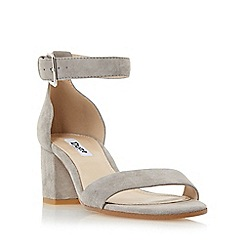 Dune - Grey 'Jaygo' two part block heel sandal