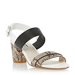 Dune - Multi two part block heel sandal