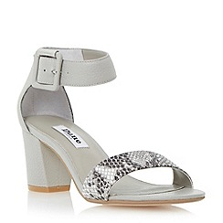 Dune - Grey two part block heel sandal