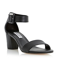 Dune - Black two part block heel sandal