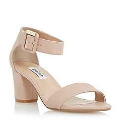 Dune - Neutral two part block heel sandal