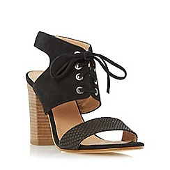 Dune - Black 'Irana' lace up two part heeled sandal