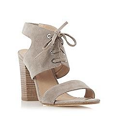 Dune - Grey 'Irana' lace up two part heeled sandal