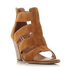 Dune - Tan 'Jinnie' multi strap mid heel sandal