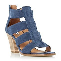 Dune - Navy 'Jinnie' multi strap mid heel sandal