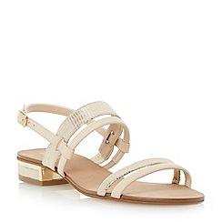 Dune - Neutral low block heel slingback sandal