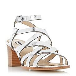 Dune - Metallic strappy block heel sandal