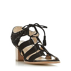 Dune - Black 'Ivanna' ghillie lace block heel sandal