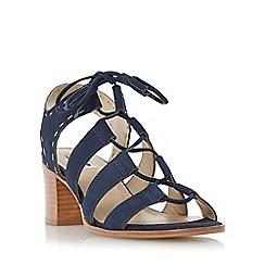 Dune - Blue ghillie lace block heel sandal