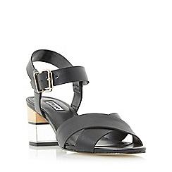Dune - Black 'Joyse' cross strap perspex heel sandal