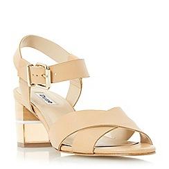Dune - Natural 'Joyse' cross strap perspex heel sandal