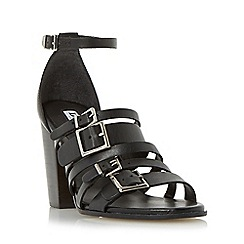 Dune - Black 'Jairo' multiple buckle strap high heel sandal