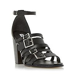 Dune - Black 'Jairo' multiple buckle strap high heel sandal