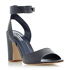 Dune - Navy 'Jamila' two part ankle strap sandal