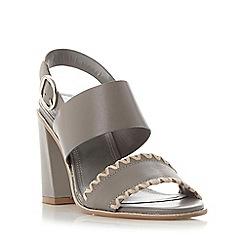 Dune - Grey 'Jinx' whipstitch flared block heel sandal
