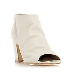 Dune - Natural 'Ivory' peep toe ankle boot