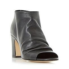 Dune - Black 'Ivory' peep toe ankle boot