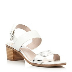 Dune - Multi block heel leather strap sandal