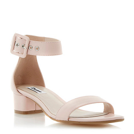 Dune - Blonde two part block heel sandal