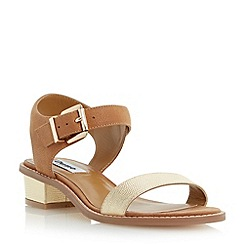 Dune - Brown two part block heel sandal