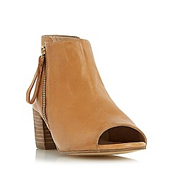 Dune - Tan 'Joselyn' peep toe ankle boot sandal