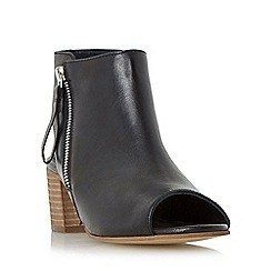 Dune - Black 'Joselyn' peep toe ankle boot sandal