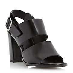 Dune - Black front strap block heel sandal