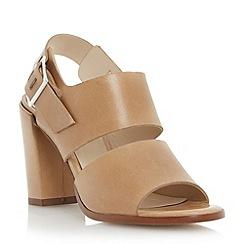 Dune - Neutral front strap block heel sandal