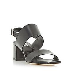 Dune - Black 'Jester' front strap mid heel sandal