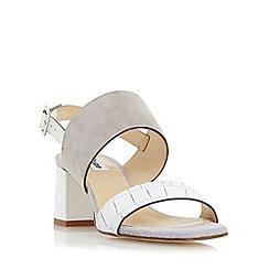Dune - Grey 'Jester' flared block heel sandal