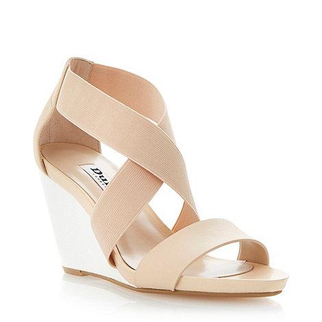 Dune - Neutral colour block wedge sandal