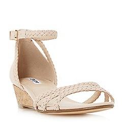 Dune - Natural 'Kassidy' plaited strap wedge sandal