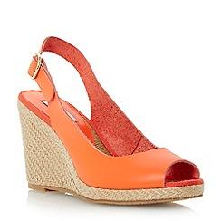 Dune - Bright peep toe espadrille slingback wedge sandal