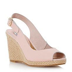 Dune - Metallic peep toe espadrille slingback wedge sandal