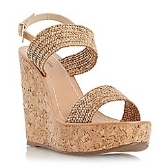 Dune - Neutral front strap wedge sandal