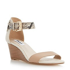 Dune - Neutral two part wedge sandal