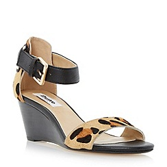 Dune - Leopard two part wedge sandal