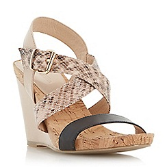 Dune - Synthetic cork detail wedge sandal