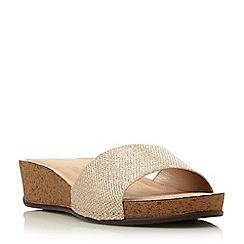 Dune - Gold-glitter 'Kimberlin' di mule wedge sandal