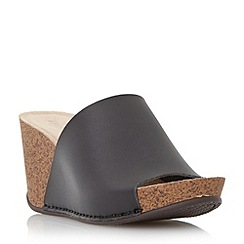 Dune - Black mule wedge sandal
