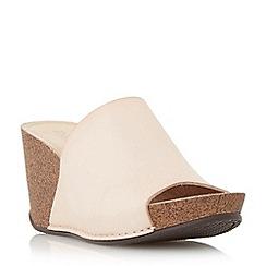 Dune - Pink mule wedge sandal